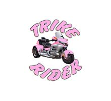 Trike Rider in Pink Photographic Print