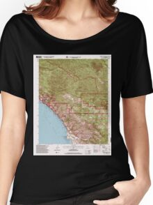 USGS TOPO Map California CA Burro Mountain 100493 1995 24000 geo Women's Relaxed Fit T-Shirt