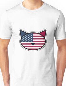 Meow American Flag Unisex T-Shirt