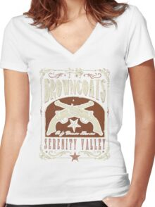 Firefly Browncoats Serenity Valley Women's Fitted V-Neck T-Shirt