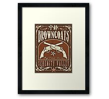 Firefly Browncoats Serenity Valley Framed Print