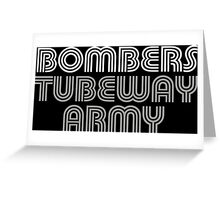 Tubeway Army Gary Numan Bombers Design Greeting Card