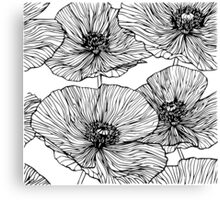 Flowers. Poppies Canvas Print