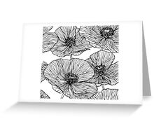 Flowers. Poppies Greeting Card