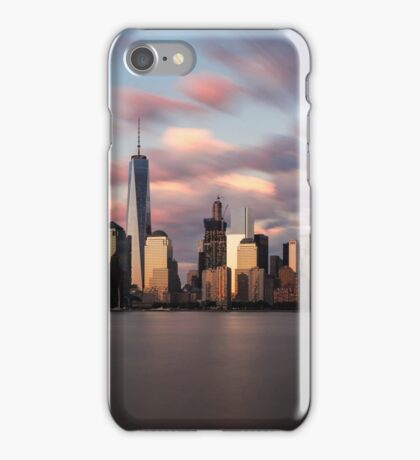 New York City at Sunset iPhone Case/Skin