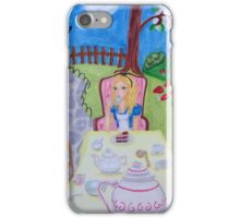 Alice in Wonderland at the madhatters teaparty  iPhone Case/Skin