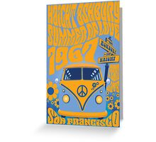 Haight Ashbury Summer Of Love Greeting Card