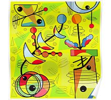 Happy day  - yellow Poster