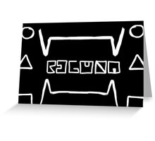 Regular - Blackout Hieroglyphic Greeting Card