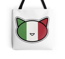 Meow Italian flag Tote Bag