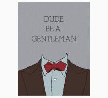 Dude, Be A Gentleman Bowtie Kids Tee