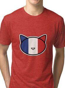 Meow French flag Tri-blend T-Shirt