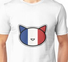 Meow French flag Unisex T-Shirt