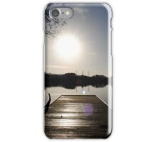 Pier at Enagh Lough, Derry, N Ireland iPhone Case/Skin