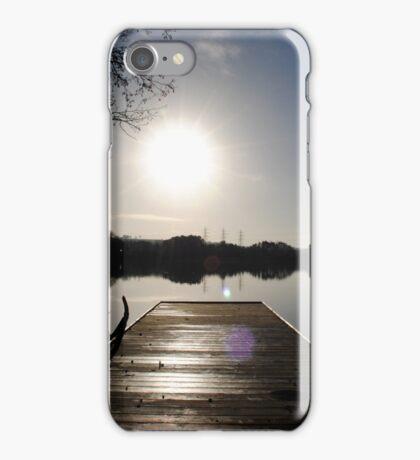 Pier at Enagh Lough, Derry, N Ireland iPhone Case/Skin