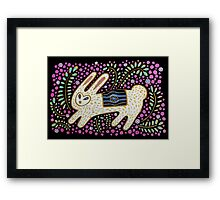 Rabbit in the Pink Framed Print