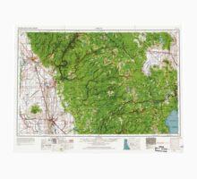 USGS TOPO Map California CA Chico 299746 1958 250000 geo Kids Tee