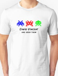 David Vincent has seen them parody Invaders Unisex T-Shirt