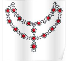 Two strand ruby necklace Poster