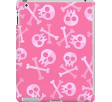 Cute Pink Skulls And Crossbones iPad Case/Skin