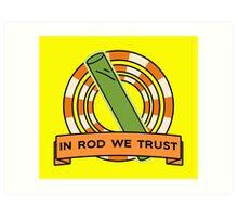 The Simpsons: In rod we trust Art Print