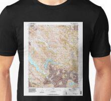 USGS TOPO Map California CA Briones Valley 300007 1993 24000 geo Unisex T-Shirt