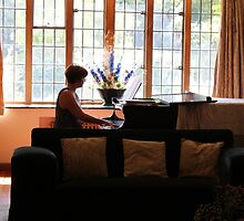 At the Piano by Claudia Dingle