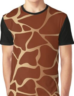 Giraffe Fur Pattern Gold Graphic T-Shirt
