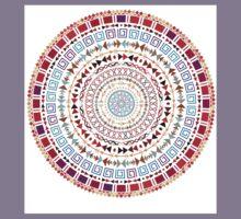 Ornate Medallion Ethnic Aztec Pattern Kids Tee