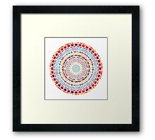 Ornate Medallion Ethnic Aztec Pattern Framed Print