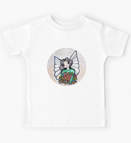 Christmas Flower Angel - Kerry Beazley Kids Tee