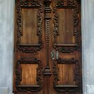 Carving on the door--detail by Ana Belaj