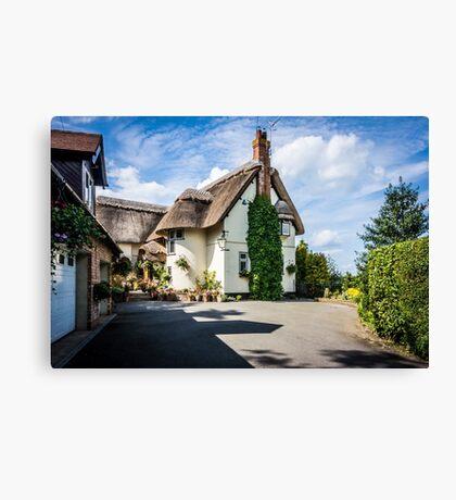 Warwickshire Thatch Canvas Print