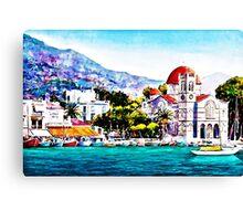 Tranquil harbour Canvas Print