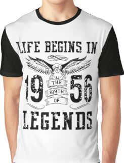 Life Begins In 1956 Birth Legends Graphic T-Shirt