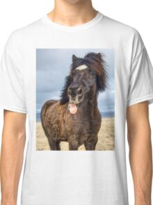 Icelandic horse showing his respect Classic T-Shirt