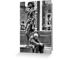 Old Man and James Joyce Greeting Card