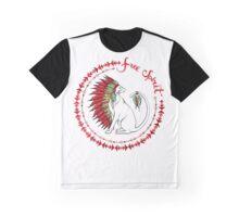 Cat In Indian War Bonnet Graphic T-Shirt