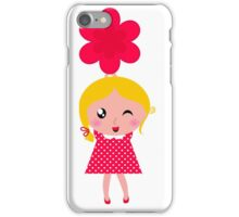 3 cute characters : Red, yellow and white iPhone Case/Skin