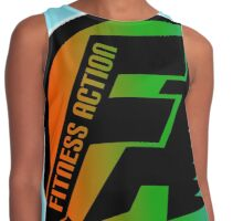 FitnessAction Round Design BK/Cyan by Mommotti Contrast Tank
