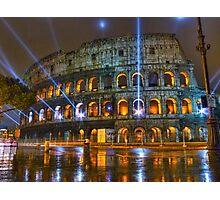 Coliseum at Night Photographic Print
