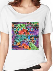 BoHo Tropical Tribal Florals Women's Relaxed Fit T-Shirt