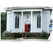 Old Little Church Facade Poster
