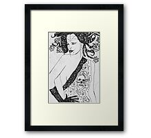 After a day at the Hellion Spa--Ready for Her Date Framed Print