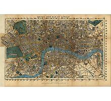 Vintage Map of London England (1860) Photographic Print