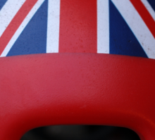 The face of Britain Sticker