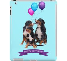 Bernese Mountain Dogs Happy Birthday iPad Case/Skin