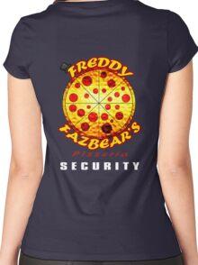 Official Employee of Freddy Fazbear's Pizzeria Women's Fitted Scoop T-Shirt