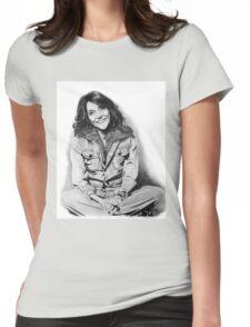 Karen Carpenter Graphite Drawing Womens Fitted T-Shirt