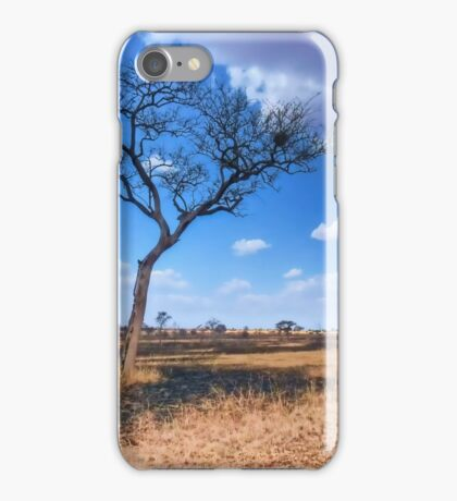 Tree in the Serengeti iPhone Case/Skin